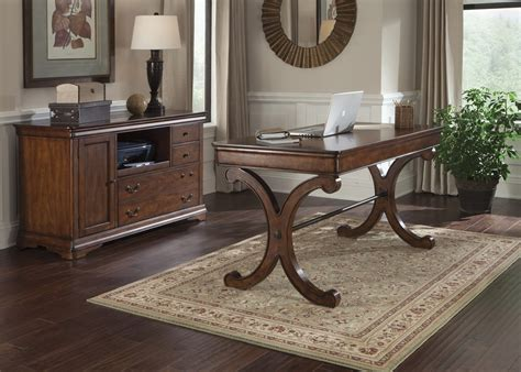 liberty brookview home office writing desk set  rustic cherry est ship time   weeks
