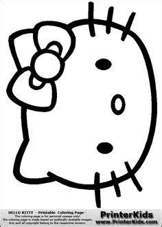 Free Hello Kitty Printable Templates Google Search Kid 2 Kid Pinterest Hello Kitty Hello Cake Template Printable