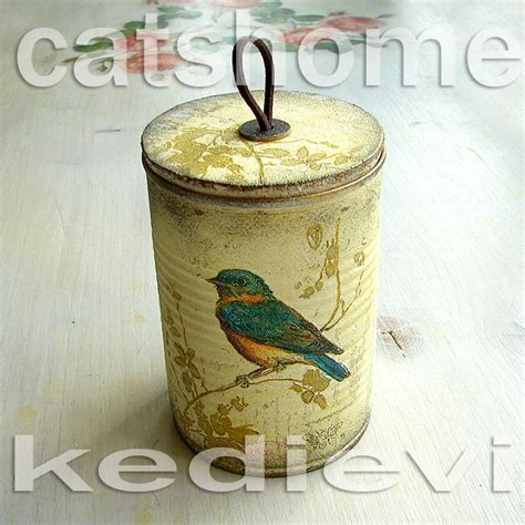 Can You Decoupage On Metal - decorative tins made by napkin decoupage 2 by catshome on