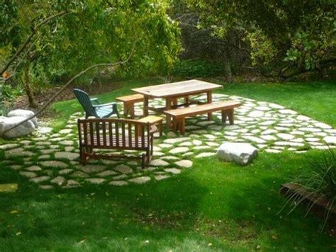 Patio Ideas On Grass Flagstone And Grass Patio Patio