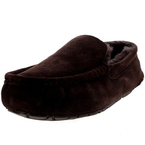 sheepskin house slippers mens moccasins australian suede sheepskin house fur loafers shoes slippers 7 15 ebay