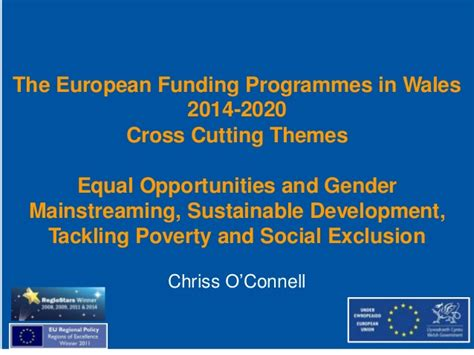 cross cutting themes education scotland the european funding programmes in wales 2014 2020 cross