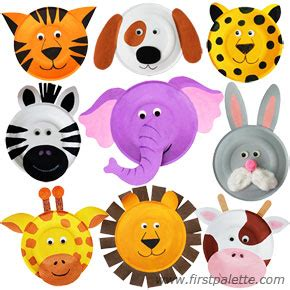 How To Make Animal Mask With Paper Plate - paper plate animals craft crafts firstpalette