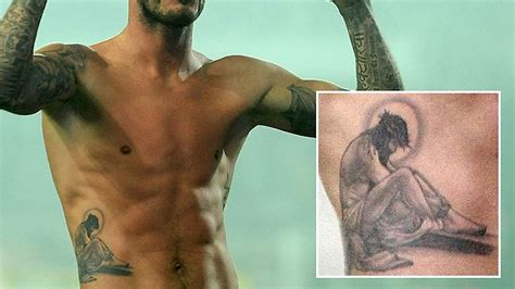 tattoo david beckham jesus tattoo parlour opens in church the courier mail