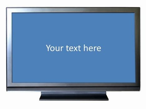 Wide Screen Tv Frame Template Tv Powerpoint Template