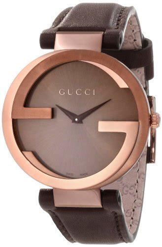 gucci brown leather sapphire swiss