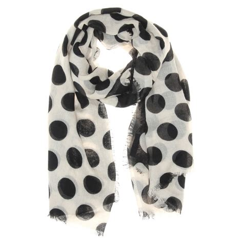 Polka Dot Scarf burberry prorsum and silkblend polka dot scarf in