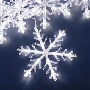 konstsmide snowflake light set with white led s