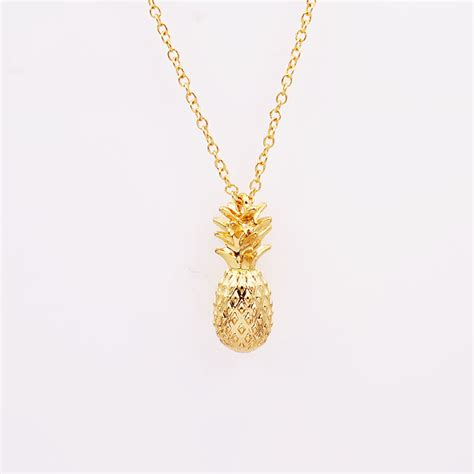 new fashion jewelry chain link pineapple pendant necklace