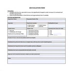 work performance evaluation template sle evaluation 9 documents in word pdf