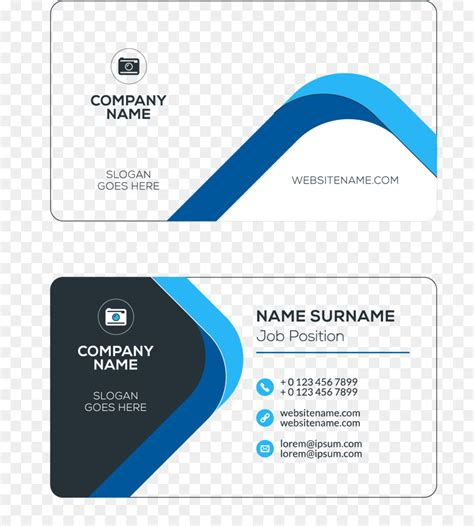 business card template with mascot business card visiting card logo business cards png