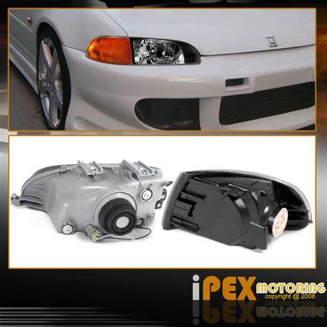 eg hatch clear tail lights for sale sell 92 95 civic hatchback jdm black headlights amber