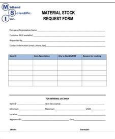 stock request form template requisition form exle