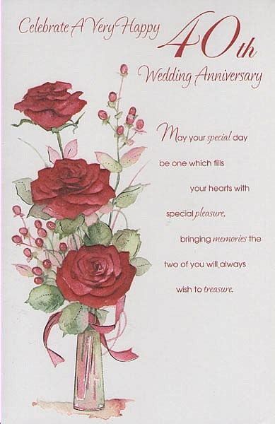 Ruby Wedding Anniversary Quotes by Happy 40th Anniversary Quotes Quotesgram