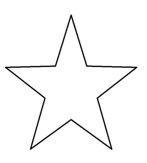 printable star outline star templates printable clipart best