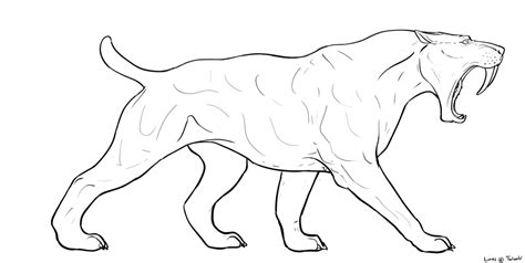 smilodon pages coloring pages