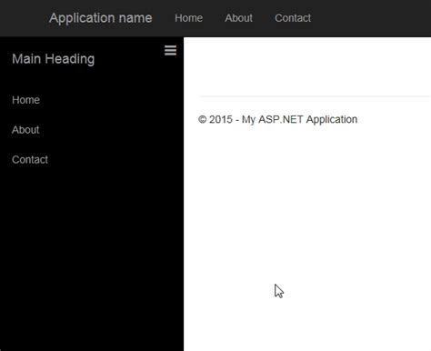 login page design templates in asp net asp net mvc how to create sidebar menu in bootstrap that