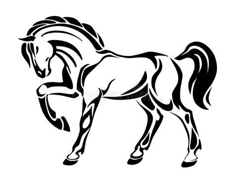 imagenes vectores caballos tatuaje del caballo dibujo gr 225 fico estilizado del vector