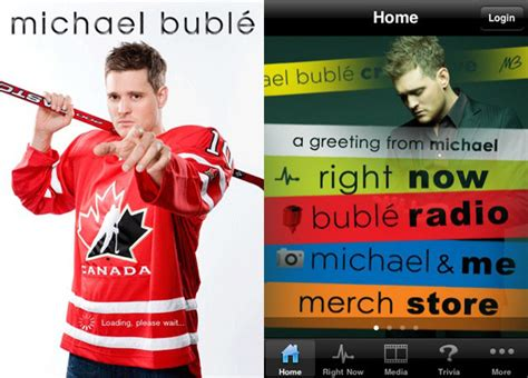 buble store michael bubl 233 canadian tour app for iphone