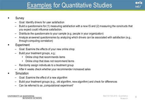 Quantitative Research Report Template