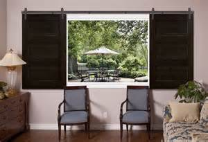 Barn Door Windows Decorating Barn Door 3 Panel Espresso Open