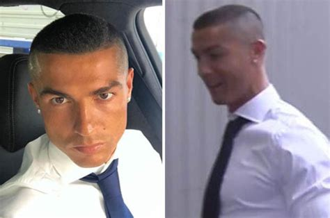 cristiano ronaldo haircut real madrid star s striking new
