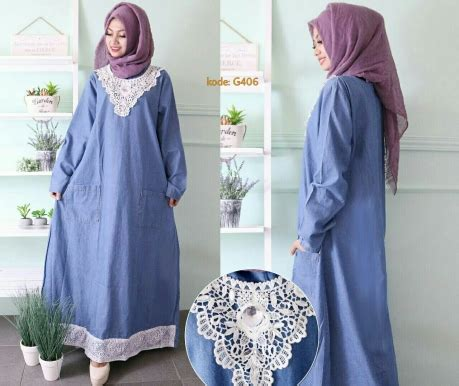 Gamis Bergo Dual Lace Cf13915 gamis lace g406 baju style ootd