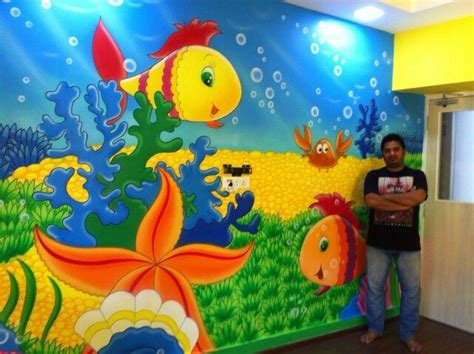 painting for school now painting is aquarium themed wall painting fully
