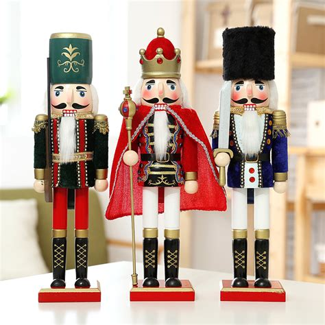 cheap nutcracker soldiers europe style 3pcs lot 38cm wood figurine the nutcracker soldier puppet antique wooden