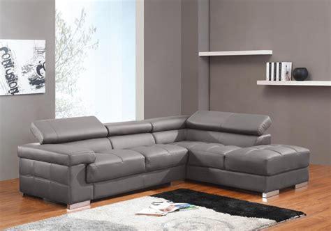 canapé d angle méridienne salon moderne cuir