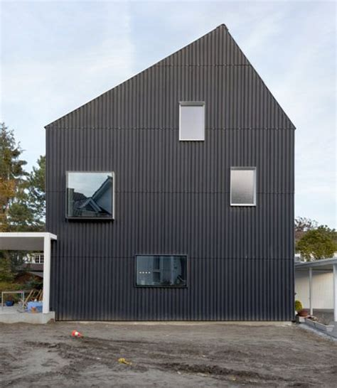 corrugated iron house designs corrugated metal cladding on house private house bellmund by exh design casa