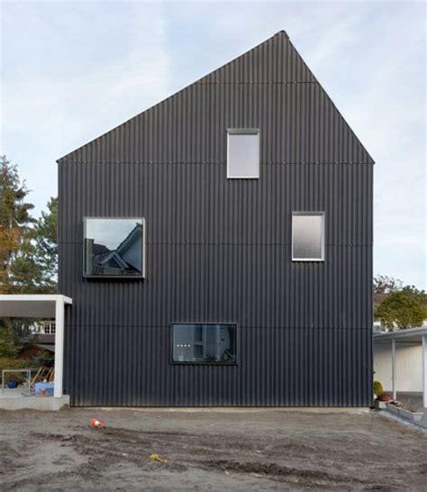 Corrugated Metal Cladding Corrugated Metal Cladding On House House Bellmund