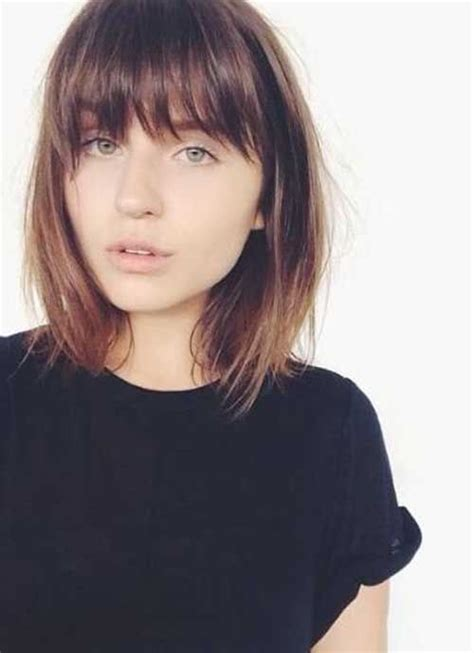 Are Bangs Okay With Medium Short Hair On 50 Year Old | 17 best ideas about short hair with bangs on pinterest