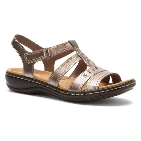 sandals womens clarks women s leisa lucia sandals in pewter likefabshoe