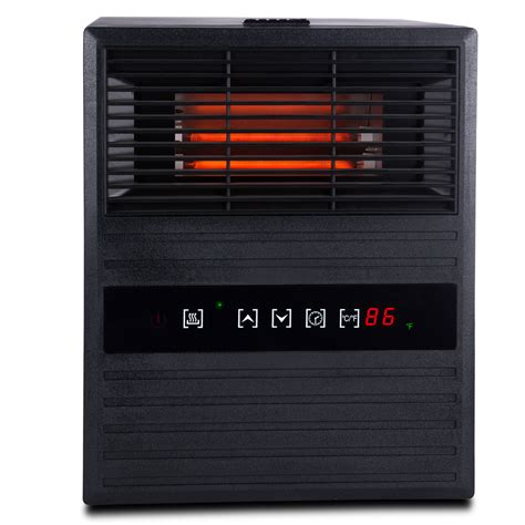 space heaters for large rooms infrared portable electric large room 3 element quartz space heater w remote ebay