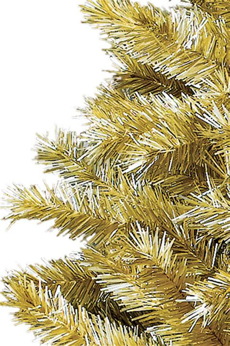 toasted chagne gold tinsel tree treetopia