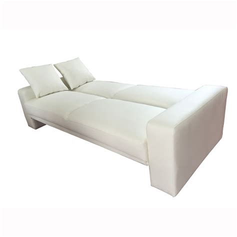 Supra Sofa Bed Supra Modern Sofa Bed In White Faux Leather 28400 Furniture