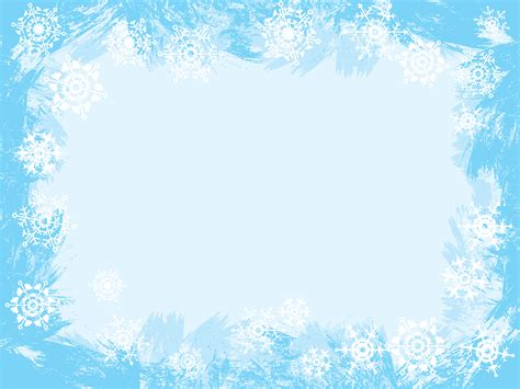 Light Blue Snowflake Frame Backgrounds Blue Border Frames Christmas White Templates Snowflake Powerpoint Template