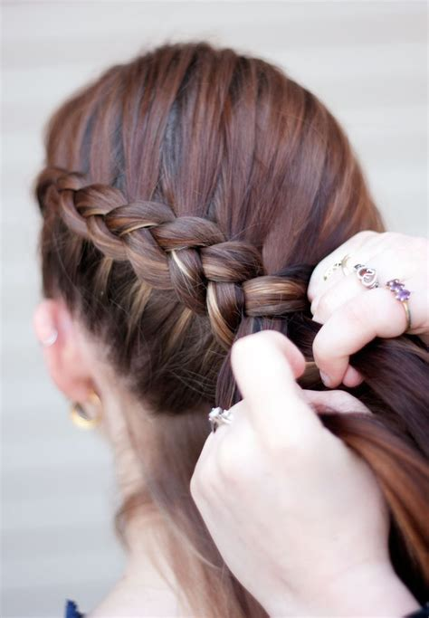 how to do a katniss braid step by step katniss braid makeup hair pinterest