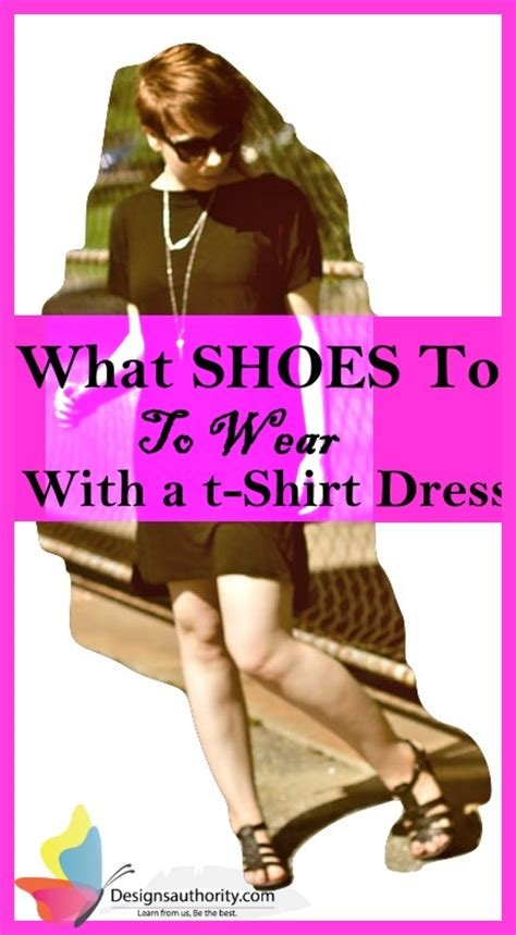 what shoes to wear with a t shirt dress 9 great