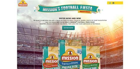 Mission Foods Sweepstakes - missionfiestafootballsweeps com mission football fiesta sweepstakes