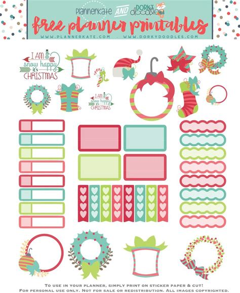 printable christmas planner stickers 17 best images about diy planner stickers on pinterest