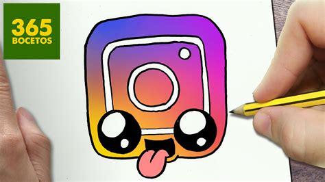 imagenes kawaii youtube como dibujar logo instagram kawaii paso a paso dibujos