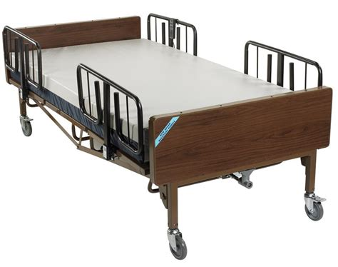 bariatric beds full electric bariatric hospital bed mattress and t rails 15303bv pkg