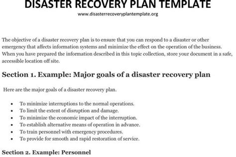 Plan Template Download Free Premium Templates Forms Sles For Jpeg Png Pdf Word And Information Systems Disaster Recovery Plan Template