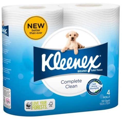 kleenex toilet roll kleenex cottonelle complete clean toilet paper 180