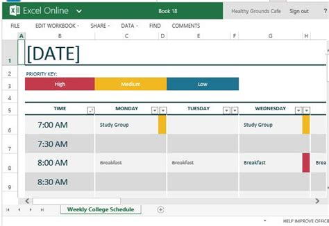 How To Easily Create Class Schedules Using Excel Excel Student Schedule Template Help