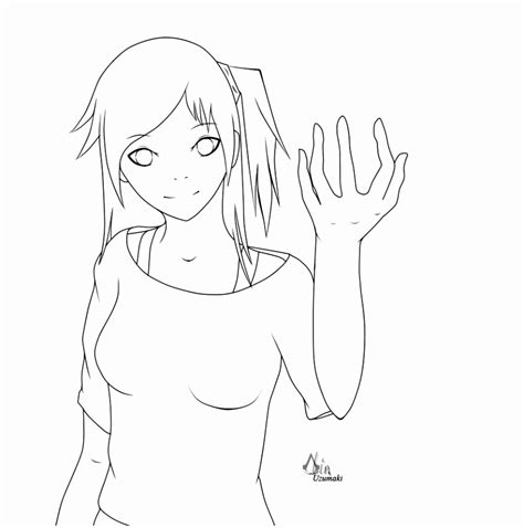 Anime Outline by 9 Anime Drawing Templates Aeyry Templatesz234