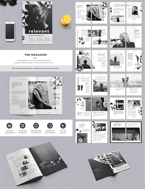 Creative Graphic Design Layout Templates 20 Magazine Templates With Creative Print Layout Designs