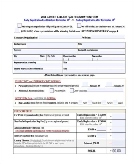 recruitment agency registration form template gallery